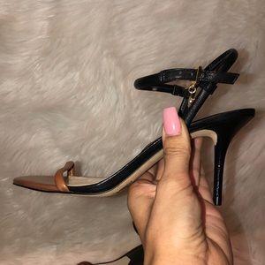 Michael Kors Brown & Black ankle strap sexy heels